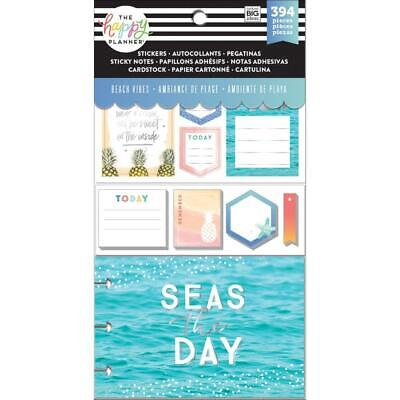 Happy Planner Multi Pack Beach Vibes Stickers Sticky Notes Pre-punched Cards