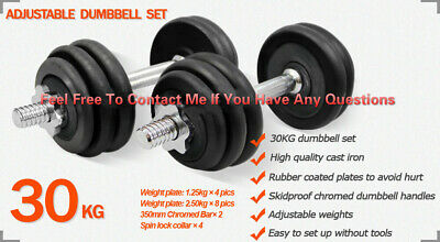 30-40KG Dumbbell Set Weight Dumbbells Plates Home Gym Fitness Exercise