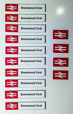 00 gauge BR Station Signs with YOUR STATION NAME, PRE-CUT model railway signs