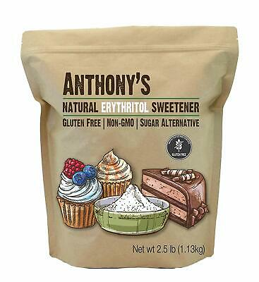 Erythritol Granules (2.5lbs) by Anthony's, Non-GMO, Natural Sweetener, Keto &amp