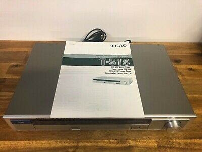Teac T-515 AM/FM Stereo Tuner With Original Manual Made In Japan