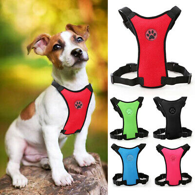 Air Mesh Cat Dog Vehicle Car Seat Belt Harness Travel Puppy Safety Vest S M L