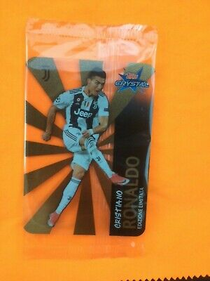 card RONALDO limited edition - TOPPS CRYSTAL - UCL - Champions league JUVENTUS