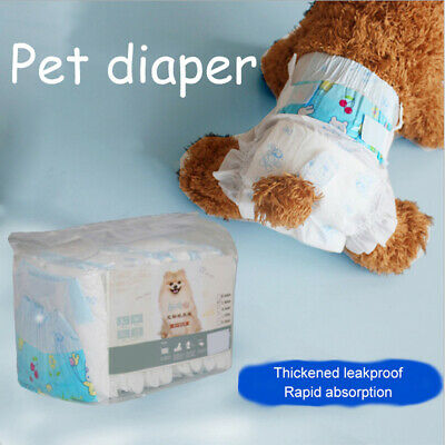 10 Pcs Disposable Dog Diapers-Super Absorbent Soft Pet Pant for Female Male Dogs