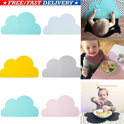 Silicone Baby Snack Mat Toddler Placemat Kids Happy Mat Home Table Food Tray Lot