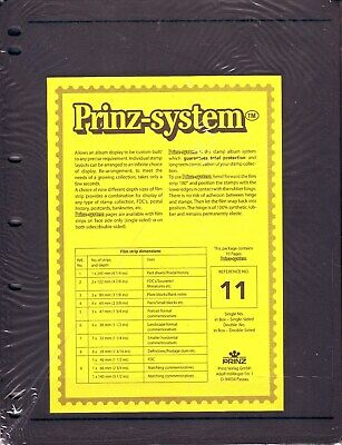 10  Prinz System 1  strip double sided Pages stock sheet