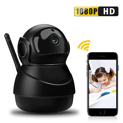 1080P HD Wireless Security IP Camera Baby Monitor Audio Wifi Webcam IR Night UK
