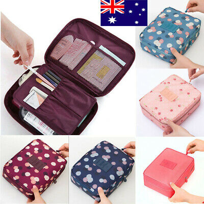 AU Portable Travel Makeup Toiletry Case Pouch Large Organizer Cosmetic Bag New