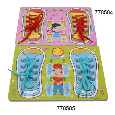 Creative  Lacing Shoe Learn to how to Tie Laces Educational Skills kids  IT