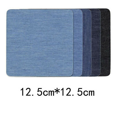 Denim Patch Kit Fabric Iron On Jeans Repair Mending Clothing Patches IT