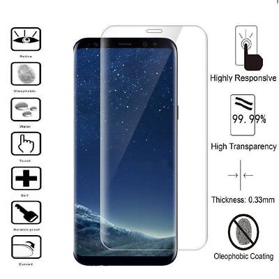 100% Genuine Tempered Glass Full Screen Face Protector For Samsung Galaxy S8