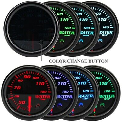 2'' 52Mm Universal 7 Colore Led Acqua Temperatura Manometro Auto Tuning