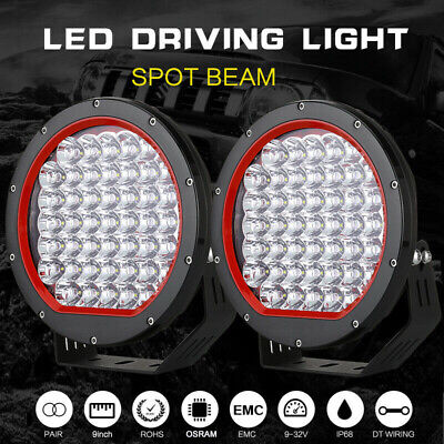 9 Inch CREE Round LED Driving Lights Offroad Spot 4x4 Spotlight Work Bar Black