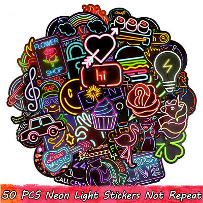 50PC Random Vinyl Decal Graffiti Sticker Bomb Laptop Waterproof Stickers Skate