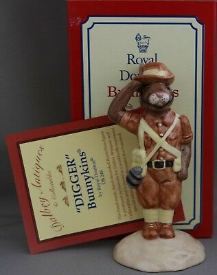 "Royal Doulton Bunnykins ""Digger"" - DB248 - Limited Edition - Box and certificate"