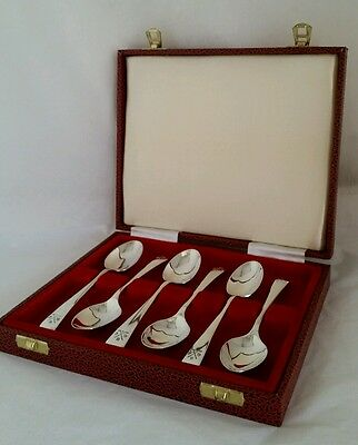 "Six sterling silver novelty "" Golfing "" spoons. Sheffield 1932 .By Gladwin Ltd"