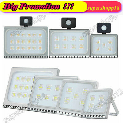 LED Motion Sensor Security Outside Wall Light Outdoor Flood Light PIR Floodlight