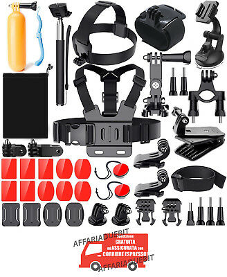 Kit GoPro Accessori Action Cam Hero 7 6 5 4 3 2 1 Hero Session Black go pro hero