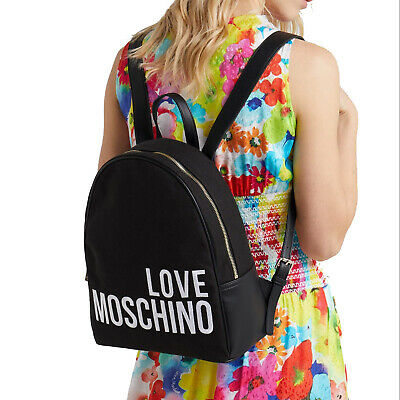 c8a70c00b4 BORSA ZAINO LOVE MOSCHINO BACKPACK Donna JC4114 NERO - EUR 159,00 ...