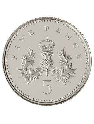 1971-2019 Proof Uncirculated 5p Five pence British Coin
