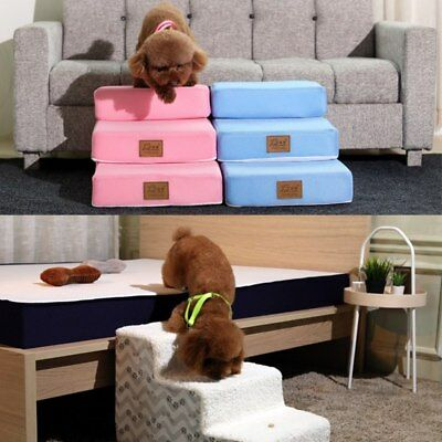 Remoovable Pet Gear Easy Step 3/4 Steps Dog Cat Stairs Ladder for Couch or Bed