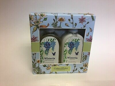 Crabtree and Evelyn Gift Set Wisteria Bath and Shower Gel and Body Lotion 8.5oz