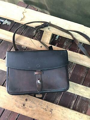 1962 Swiss Army Shoulder Bag Military Maps Card Holder Leather