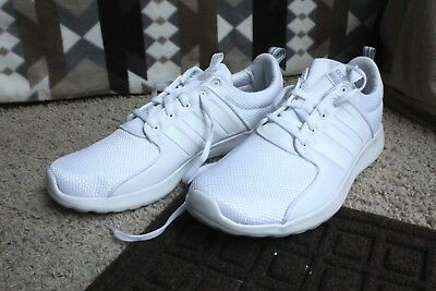 new arrival bc48f 3c70b Adidas NEO Cloudfoam Lite Racer AW4262 Mens Running Shoes White Onix 10.5