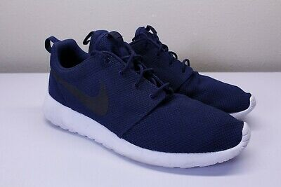 13753170fbbe Nike Roshe One 511881-405 Mens Navy Blue Black Midnight Running Shoes Size  13