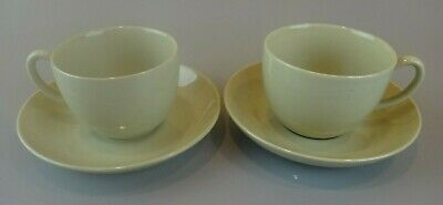 2 Wedgwood DRABWARE Cup & Saucer Sets EXCELLENT CONDITION ~OLDER MARK