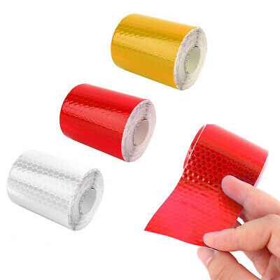 3m Roll Car Truck Reflective Safety Warning Tape Self Adhesive Film Sticker US