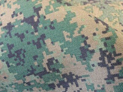 5mts  JUNGLE DIGITAL CAMOFLAGE HEAVY CORDURA WATER REPELLENT FABRIC 150cms WIDE