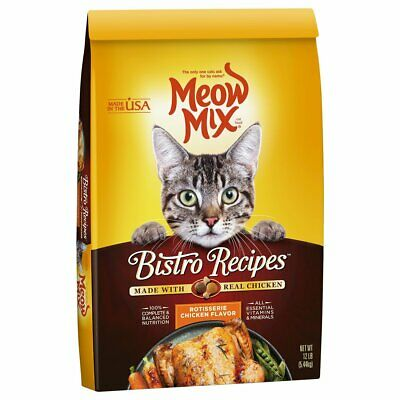 Meow Mix Bistro Recipes Dry Cat Food, Rotisserie Chicken, 12 lb Bag