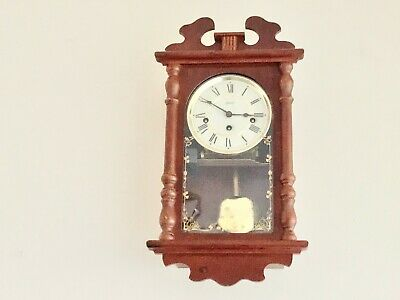 Hermle Westminster Chime Mahogany Wall Clock Beautiful Condition