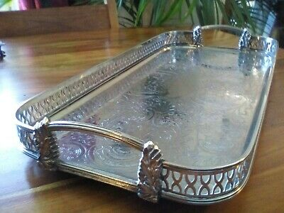 A Vintage Silver Plated Tray -