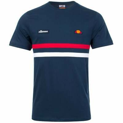 BNWT White /& Red Ellesse Banlo Tee Shirt‏ Navy