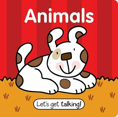 Let's Get Talking! Animals - Large Padded Board Book *FREE P&P*