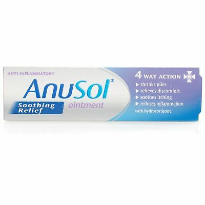 Anusol Soothing Relief Ointment 4 Way Action Hydrocortisone Haemorrhoids, Piles
