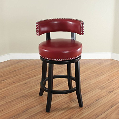 Pleasant Monsoon Pacific Mossoro Swivel Leather Counter Stool Red Alphanode Cool Chair Designs And Ideas Alphanodeonline