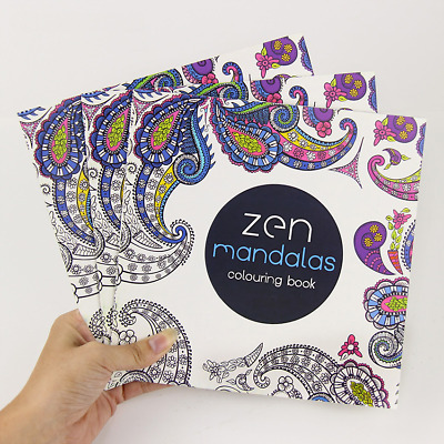 Zen Mandalas Anti-Stress Adult Colouring Book - Chill Out & Relax! Free P&P