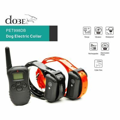 300M Remote Control Dog Electric Collar, Rechargeable and Waterproof LCD Pet Dog