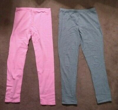 LOT Old Navy Pink Leggings w/ Lace Trim, Faded Glory Gray Leggings Girl's 14 XL