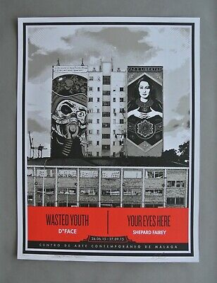 Wasted Youth : Signed + Numbered Screen Print : Obey : Shepard Fairey + D*face