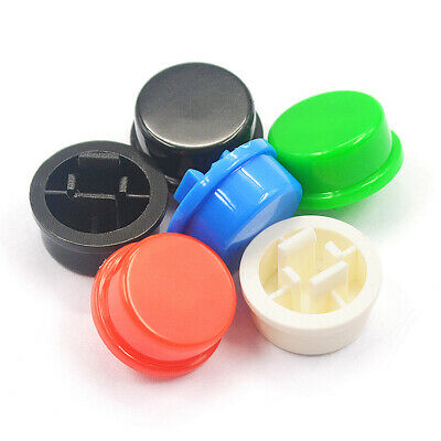 12x12x7.3mm A24 Round Key Cap Push Button Switches White&Black&Red&Blue&Green
