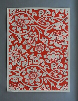 Floral Takeover : Signed + Numbered  Screen Print : Obey : Shepard Fairey