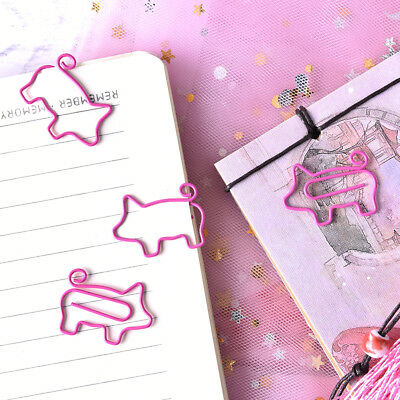 4x Pig Pink Bookmark Paper Clip School Office Supply Escolar GiftStationery NICA