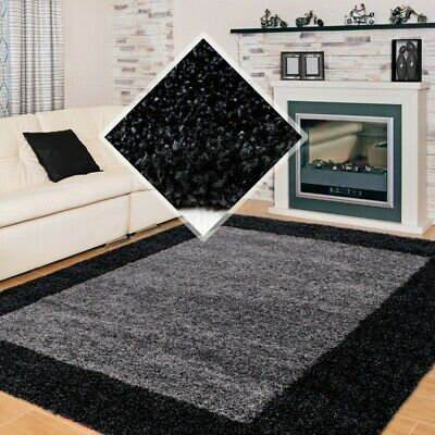 SMALL X EXTRA LARGE THICK 30mm HIGH PILE SOFT NONSHED LIFE SHAGGY RUG-Anthracite