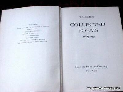 T S Eliot Collected Poems 1909 1935 1946 2000 Picclick