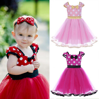 Toddler Baby Girls Minnie Mouse Polka Dot Dress Princess Party Carnival Costumes