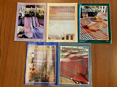 Lot of 5, Handwoven, 1985, Vintage Magazines, Interweave Press